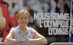 ISABELLE BERNARD, PRESIDENTE DE L'EQUIPE FEMININE DE L'OLYMPIQUE LYONNAIS ET DE SES SUPPORTERS